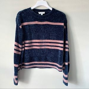 Cloud Chaser Stripped Sweater Blue Pink Size L